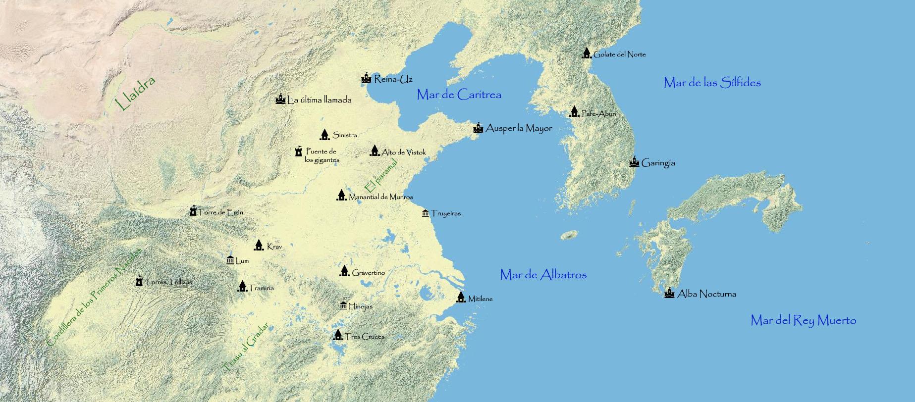 Mapa de Ampiria