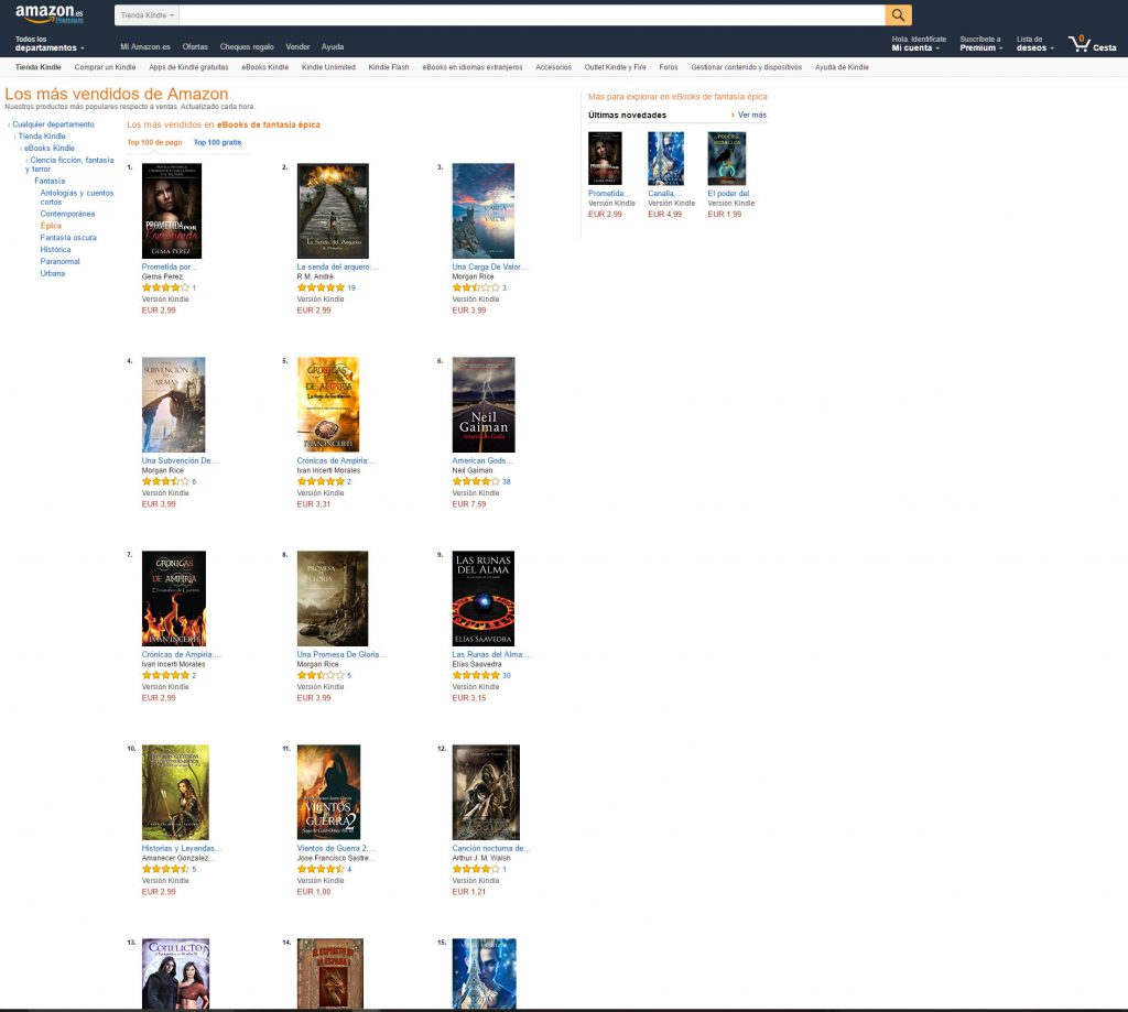 ´Top ten amazon