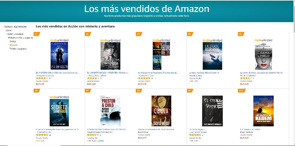 El códice Voynich: top ten ventas en Misterio de Amazon